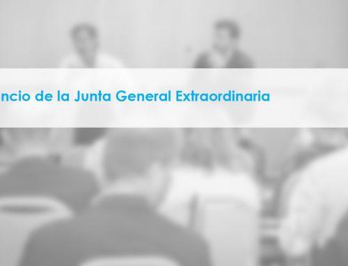 Anuncio de la Junta General Extraordinaria